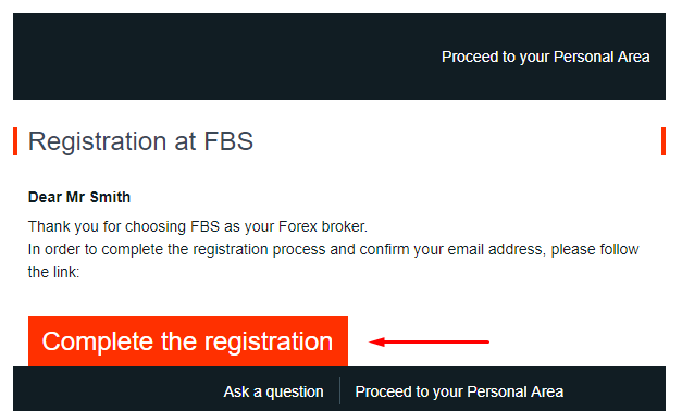 how can i verify my e mail address fbs